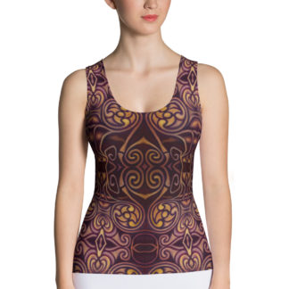 Celtic Dragon women's fitted tank top